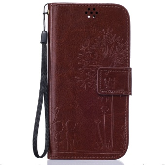 Zoeirc Dandelion Protective Stand Wallet Purse Credit Card ID Holders Magnetic Flip Folio TPU Soft Bumper